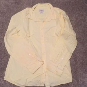 J crew yellow button down